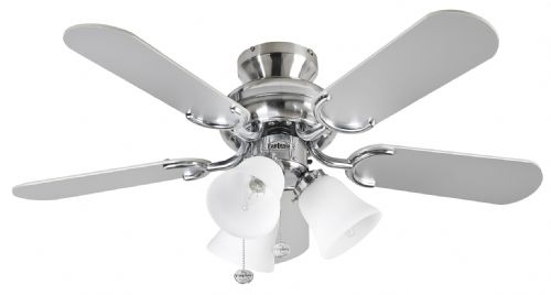 "Fantasia Capri Combi 36"" Stainless Steel Ceiling Fan +  Light 110187"